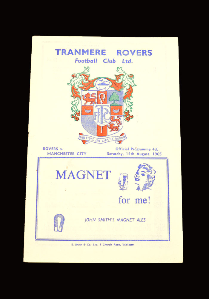 Man City v Tranmere 14.08.1965 (friendly)