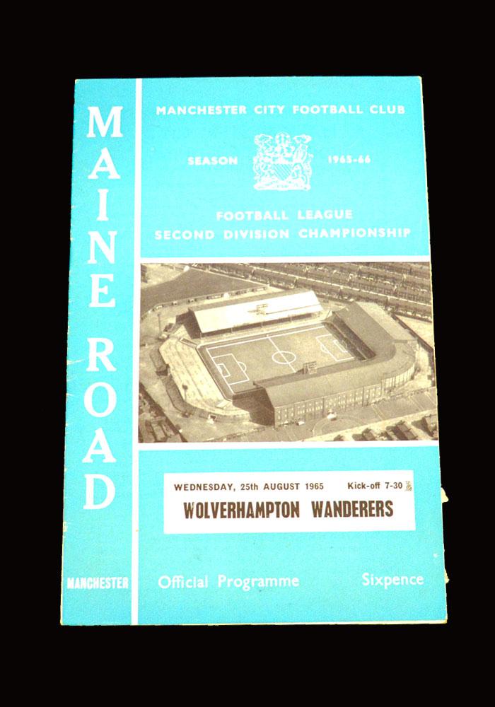 Man City v Wolves 25.08.1965