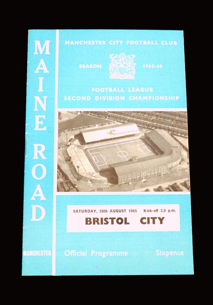 Man City v Bristol City 28.08.1965