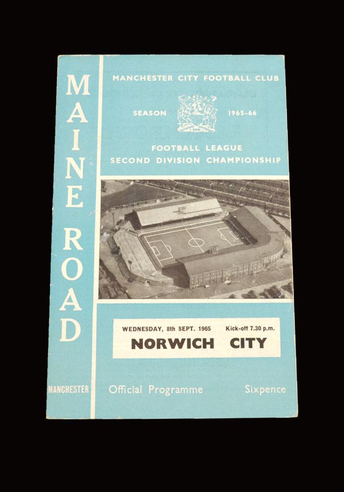Man City v Norwich 08.09.1965 (abandoned)