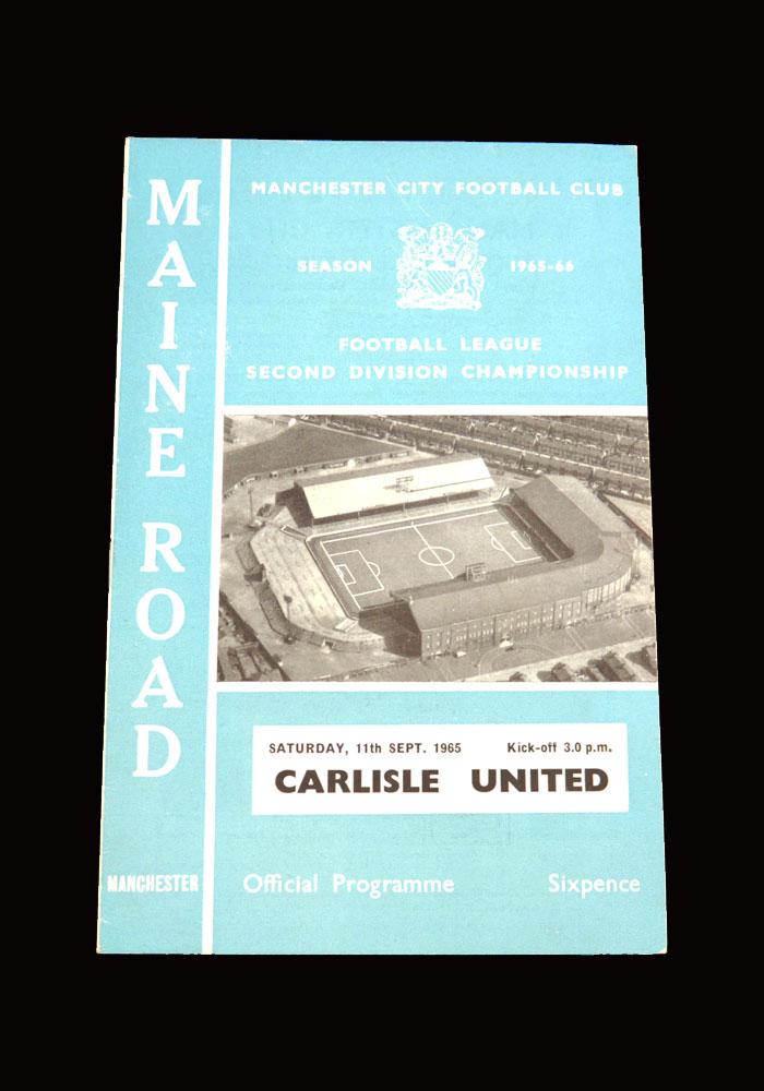Man City v Carlisle 11.09.1965