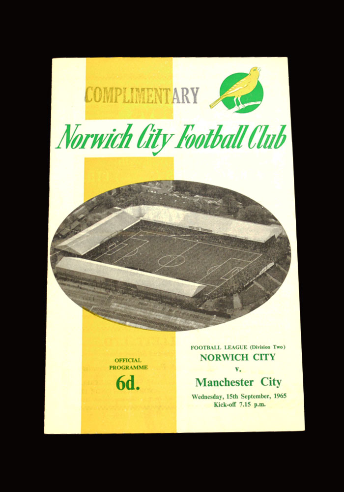 Man City v Norwich 15.09.1965