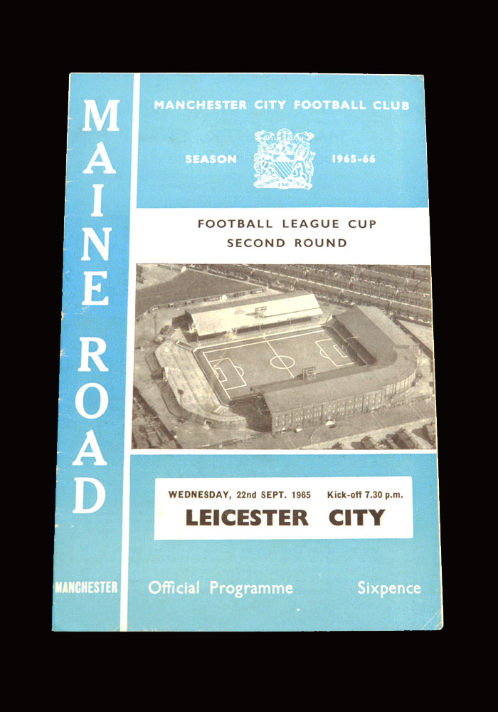 Man City v Leicester 22.09.1965 - League Cup 2nd Round