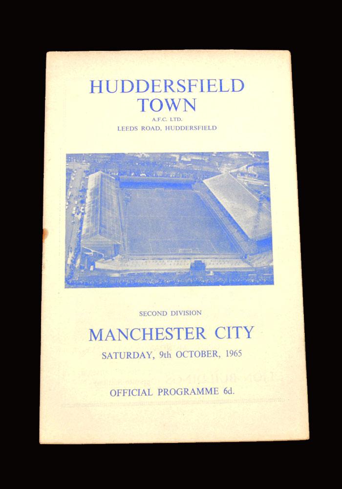 Man City v Huddersfield 09.10.1965