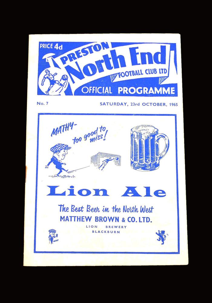 Man City v Preston 23.10.1965