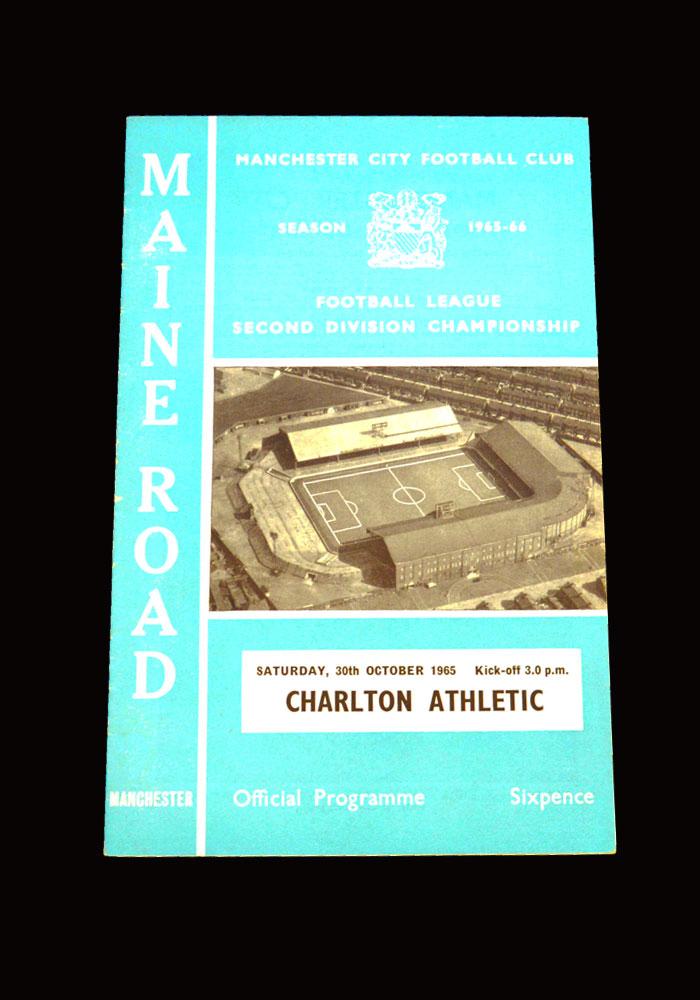 Man City v Charlton 30.10.1965