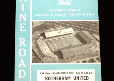 Man City v Rotherham 27.12.1965 (postponed)