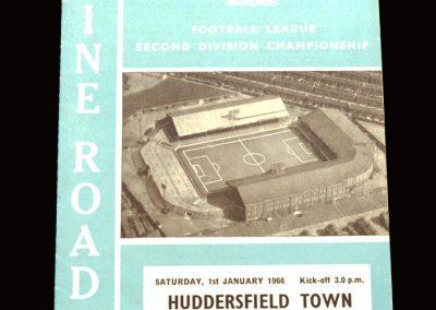 Man City v Huddersfield 01.01.1966