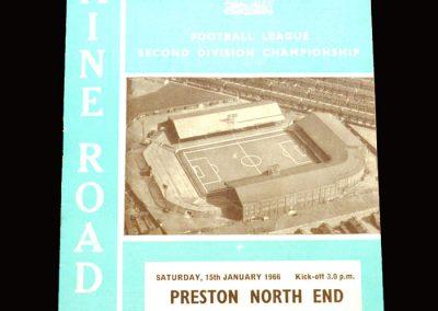 Man City v Preston 15.01.1966