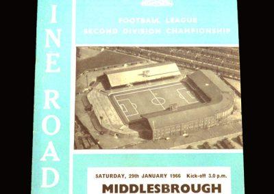 Man City v Middlesbrough 29.01.1966
