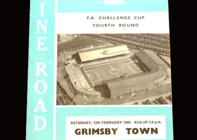 Man City v Grimsby 12.02.1966 - FA Cup 4th Round