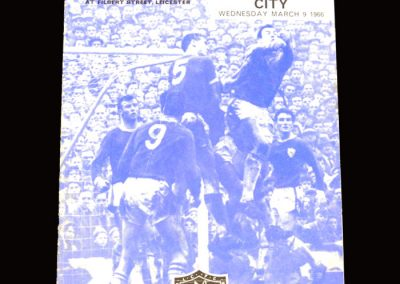Man City v Leicester 09.03.1966 - FA Cup 5th Round Replay