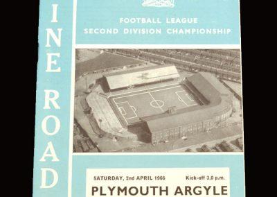 Man City v Plymouth 02.04.1966