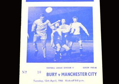 Man City v Bury 12.04.1966