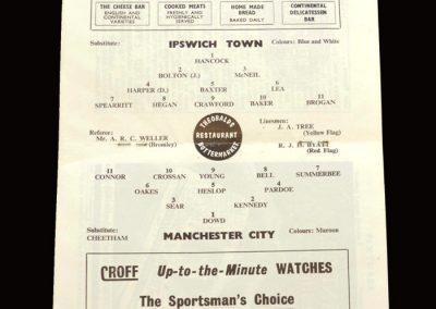 Man City v Ipswich 23.04.1966