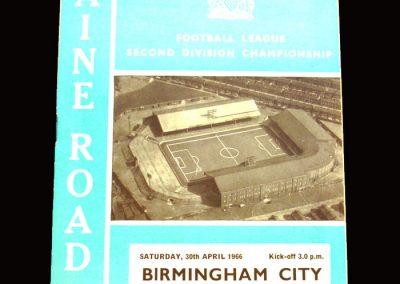 Man City v Birmingham 30.04.1966