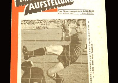 Man Utd v Nurnberg 10.08.1965 (friendly)