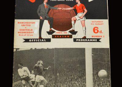 Man Utd v Sheff Wed 21.08.1965
