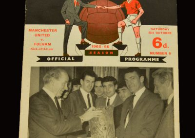 Man Utd v Fulham 23.10.1965