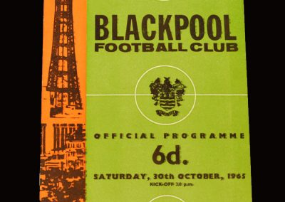 Man Utd v Blackpool 30.10.1965