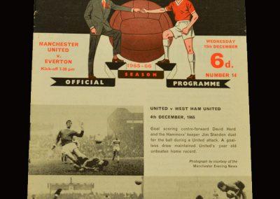Man Utd v Everton 15.12.1965