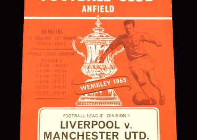 Man Utd v Liverpool 01.01.1966