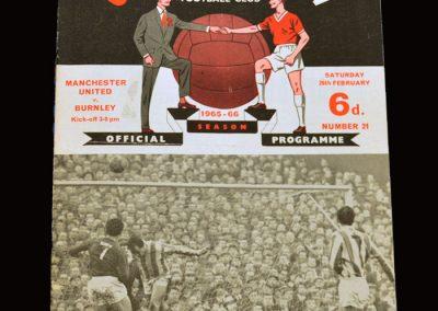 Man Utd v Burnley 26.02.1966
