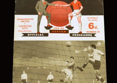 Man Utd v Leicester 09.04.1966