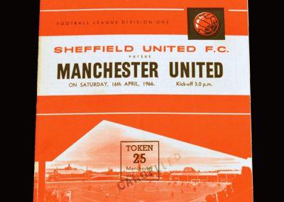 Man Utd v Sheff Utd 16.04.1966