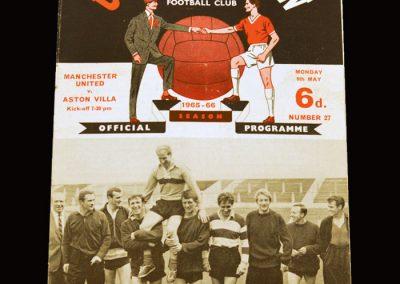 Man Utd v Aston Villa 09.05.1966