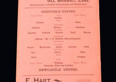 Sheff Utd v Newcastle Utd 08.12.1900