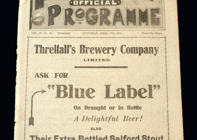 Liverpool v Bradford 17.04.1915 | Everton Reserves v Burnley Reserves 17.04.1915