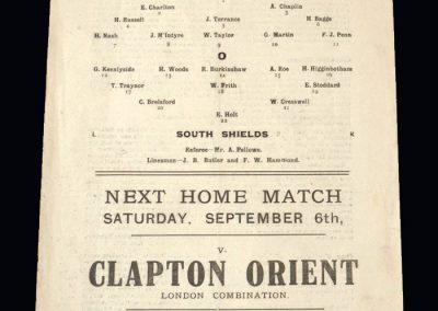 Fulham v South Shields 30.08.1919