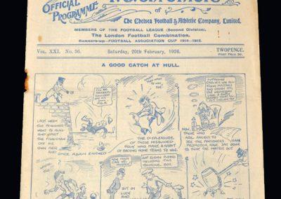 Chelsea v Darlington 20.02.1926
