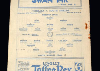 Chelsea v South Shields 27.02.1926