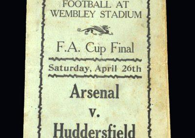 Arsenal v Huddersfield 26.04.1930 - FA Cup Final (pirate)