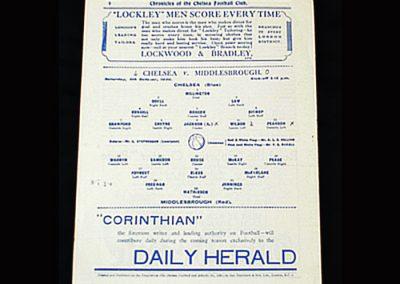 Chelsea v Middlesbrough 04.10.1930