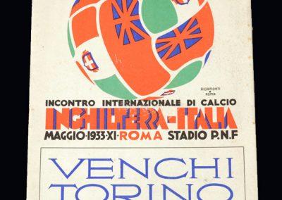 Italy v England 13.05.1933