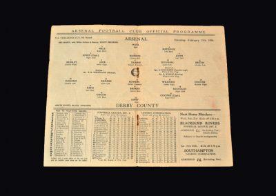Arsenal v Derby 17.02.1934 (FA Cup 5th Round)