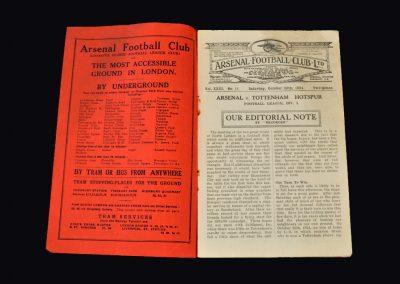 Arsenal v Spurs 20.10.1934