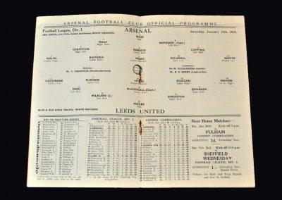 Arsenal v Leeds 19.01.1935