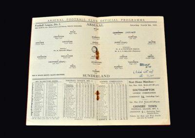 Arsenal v Sunderland 09.03.1935
