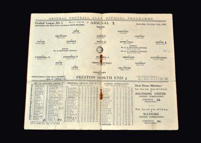 Arsenal v Preston 26.10.1935