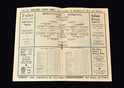 Arsenal v Brentford 02.11.1935