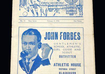 Arsenal v Blackburn 08.02.1936