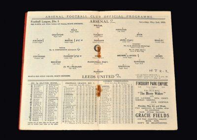 Arsenal v Leeds 02.05.1936
