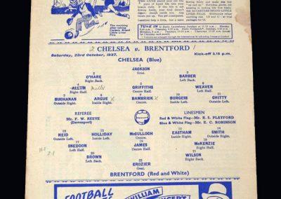 Chelsea v Brentford 23.10.1937