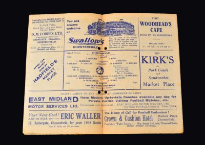 Chesterfield v Spurs 12.02.1938 - FA Cup 5th Round 2-2