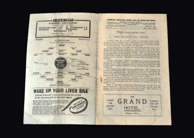 Sunderland v Middlesbrough 22.10.1938