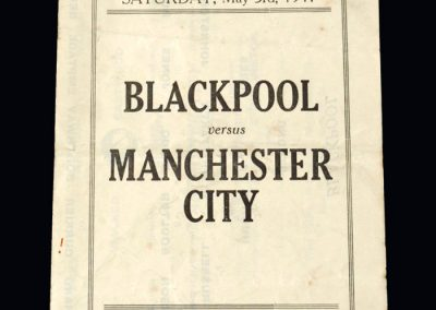Blackpool v Man City 03.05.1941